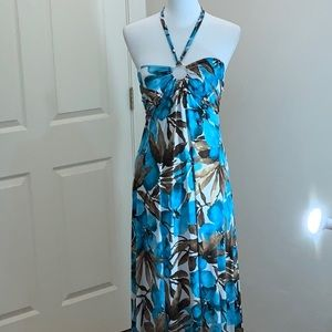 Body Central Maxi Dress Polyester & Spandex Large